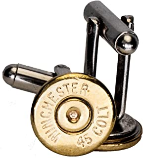 45 Colt Brass Finish Cuff Links (Winchester)