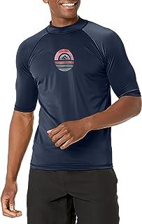 Kanu Surf mens Horizon Upf 50+ Sun Protective Rashguard Swim Shirt Rash Guard Shirt