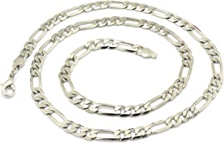 Figaro Men's Necklace, Cuban Curb Chains, Neck Link Hip Hop Rock, Jewelry for men Boys