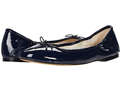Sam Edelman Felicia (Baltic Navy Goat Crinkle Patent Leather) Women