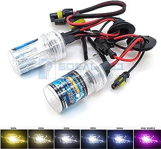 O-NEX 2x XENON HB3 9005 HID Bulbs AC 35W Headlight Replacement High Bright 12000K Pink Purple