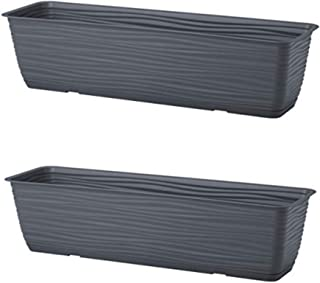 United Frames and Products Michigan Dunes Planter Box, Herb Garden with Drip Tray, 23†2 Pack (ADD-ON: Adjustable Han...