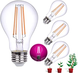 Indoor Plant Grow Lights, HOLA Growing Lights with Red Blue Spectrum, 60W Equivalent Led Grow Lamp for Hydroponics Greenhouse Organic, White Light, 4 Pack (E26 6W)