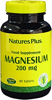 NaturesPlus Magnesium Amino Acid Chelate - 200 mg, 90 Vegetarian Tablets - Bone Support Supplement, Promotes Healthy & Str...