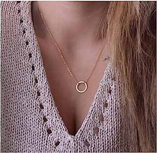 CAIYCAI New Stunning Sideways Vertical Tree Leaf Charm Infinity Pendant Necklace Chain Wedding Jewelry