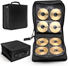Flexzion CD DVD Carrying Case 288 Capacity Disc Bluray Storage Box Organizer Holder Album Container Wallet Solution Page S...