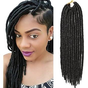 VRHOT 6packs Faux Locs Crochet Braids Hair Synthetic Hair Extensions Braiding Hair Twist Crochet Locs Dreadlocks Afro Kinky Burgundy Bug 18 inch (18'' (6 packs/lot), Burgundy)