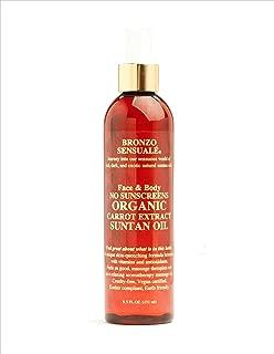 Bronzo's SPF 0 Certified Organic Carrot Oil 8.5 oz.