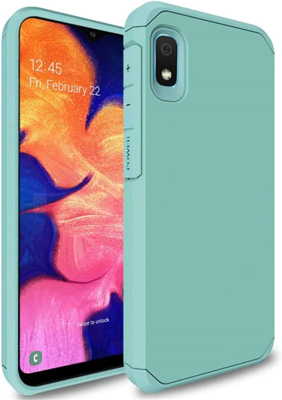 Starhemei for Galaxy A10E Case, Shock Absorption Hybrid Double Layer Rubber Case Full-Body Protective Case Cover for Samsung Galaxy A10E (FreshGreen)