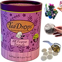 Earthworm Technologies TeaDrops Organic Liquid Indoor Houseplant Food – All Purpose House Plant Fertilizer – 16 Plant Food Packets – Make up to 32 Gallons (Easy, No Urea, No Smell, Ecofriendly)