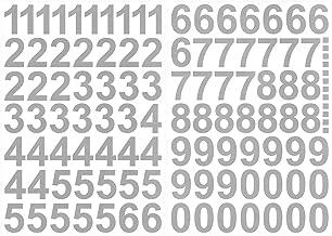 9pcs Zahlenaufkleber Klebezahlen Selbstklebend Nummer Aufkleber Silber