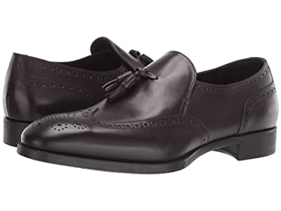 Giorgio Armani Dress Slip-On Wing Tip (Brown) Men