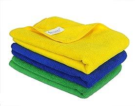 Sobby Microfiber Cleaning Cloth (40 cm x 60 cm, Multicolour) -Set of 3