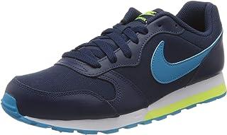 Nike Md Runner 2 (Gs), Unisex Kids' Sneakers, Blue (Midnight Navy/Laser Blue-Lemon Venom), 36 EU