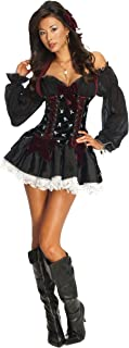 Secret Wishes Women's Playboy Swashbuckler Sexy Pirate Costume, Black