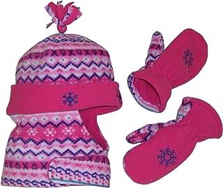 Girls Wrap Around Micro Fleece Embroidered Set