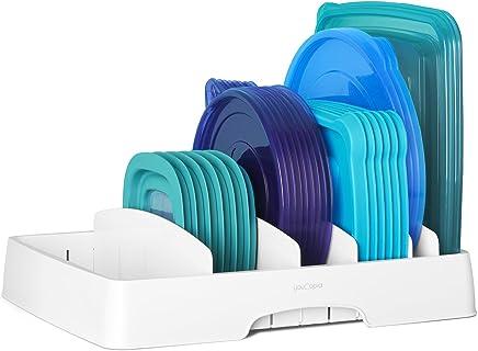 YouCopia Storalid Organizador de tapas de contenedores de alimentos, Blanco, Large, 1
