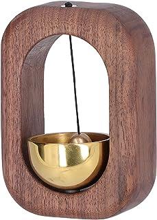 Kylskåp Vindspel, Sugdörr Vindklockor Magnet Trä för TV -skåp för trädörrar för garderober för kylskåpsdörrar(Svart valnöt)