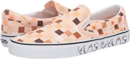 (Breast Cancer) Nude Check/True White (Classic Slip-On)