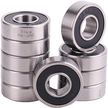 3//8x 7//8x 9//32 inch 10 pcs R6 ZZ C3 metal shielded ball bearing