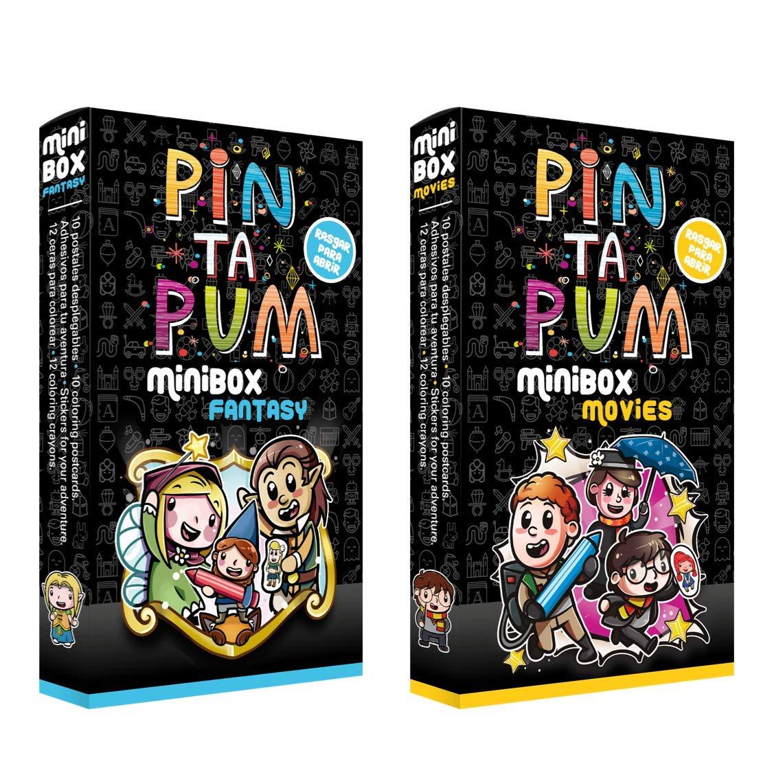 PinTaPum Pandilla Pack 2 Minibox (Fantasy y Movies) Cuadernos para ...