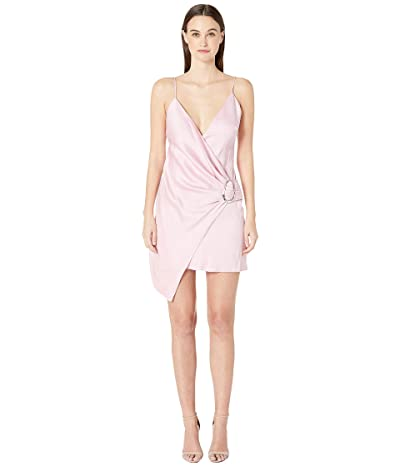 Cushnie Deep V Sleeveless Mini Dress with Dripping Ring (Peony) Women