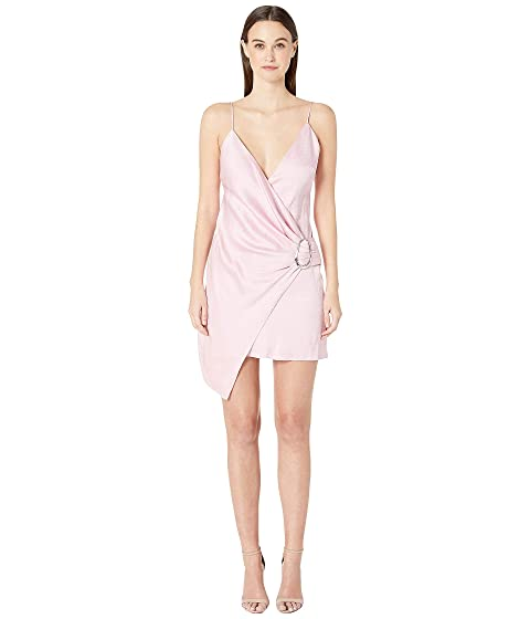 Cushnie Deep V Sleeveless Mini Dress with Dripping Ring