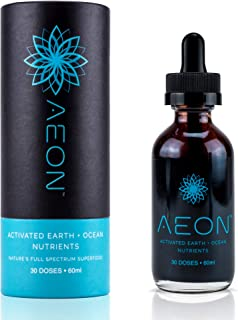 AEON Highest Concentration Humic and Fulvic Acid Trace Mineral Drops - Highest Quality All Natural Concentrated Pure Trace Minerals (2 oz)
