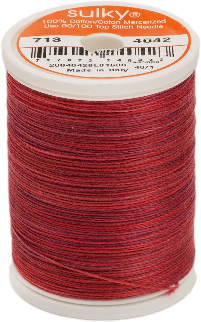 Sulky Sacramento Mall Blendables Thread for Ranking TOP5 330-Yard Sewing Redwork
