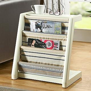 Strong Sturdy bookshelf Solid wood magazine rack creative newspaper rack Floor magazine rack vertical bookcase Living room...