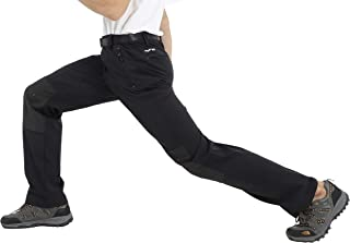 MIER Men'sLightweight Hiking Pants Quick Dry Cargo Pants with YKK Zipper Pockets, Water Resistant