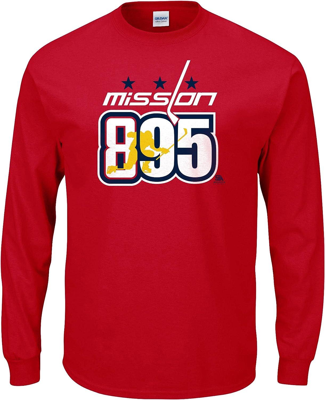 Sm-5X Mission 895 Red T-Shirt Washington Hockey Fans
