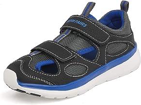 DREAM PAIRS Boys Girls Closed-Toe Outdoor Summer Sport Sandals