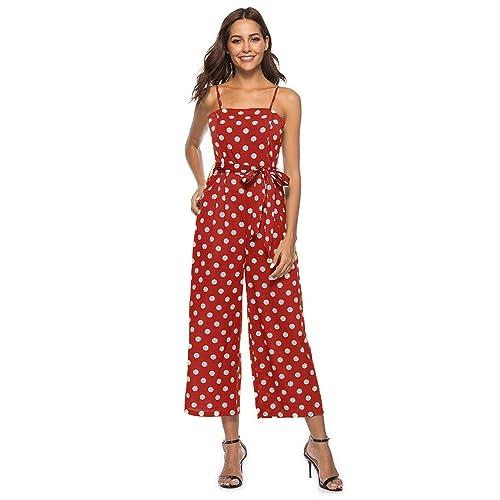 906bcf3352c Red Polka Dot Jumpsuit: Amazon.com