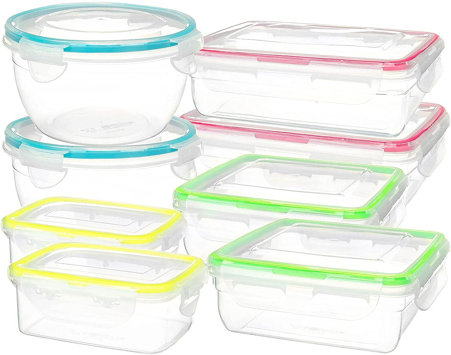 16 Piece Clip Lock Inexpensive Food Fruits shipfree Storage Set Container Vegetables