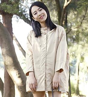 PENGFEI レインコートポンチョ 防水レインジャケットコートヒットクロス韓国版クロークデュアルユース薄くて明るい通気性2色ワンサイズ (色 : カーキ, サイズ さいず : M)