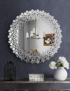 Mirror Diameter 27,56 Modern Wall Mirror Wall Mirror VIRTUS Large  Mirror