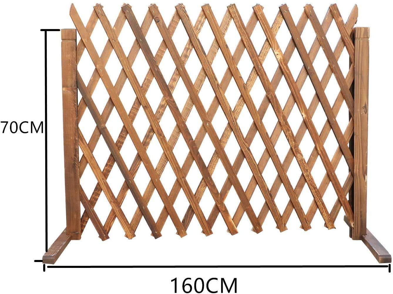 uyoyous 2 unidades Rankgitter Holzzaun ausziehbar hasta 160 cm zusammenfaltbar Variabel regulable Independiente jardín balcón terraza naturaleza (Holzfar: Amazon.es: Jardín