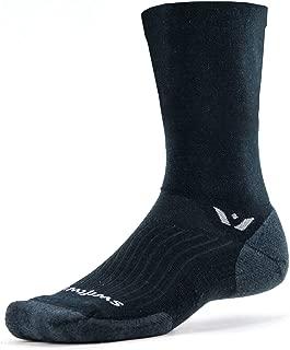 Swiftwick- PURSUIT SEVEN Hiking & Cycling Crew Socks, Durable, Merino Wool
