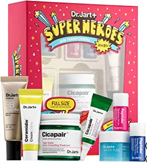 DR. JART+ Superheroes Skin Transformers: Tiger Grass Color Correcting, Re.Pair Serum, Water Fuse Hydro Sleep Mask, Ceramidin, Beauty Balm, Peptidin Radiance Serum Firming Serum