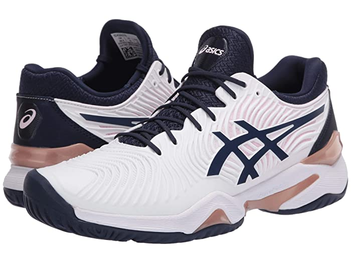 ASICS  Court FF 2 (White/Peacoat) Womens Volleyball Shoes
