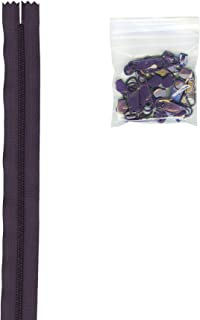 Patterns ByAnnie 4 Yards of 16mm #4.5 Zipper Chain and 16 Ex-Large Eggplant