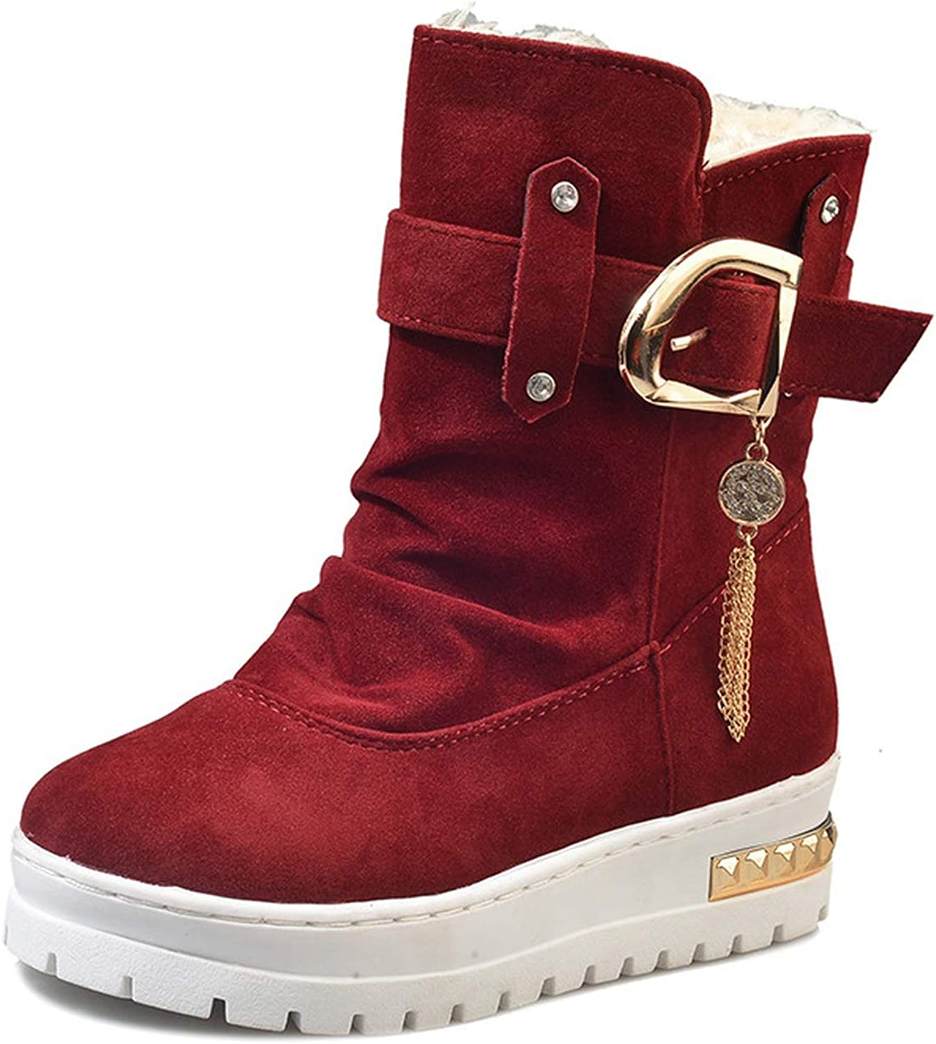 Welcometoo Women Winter shoes Antiskid Keep Warm Winter shoes Women Winter Boots Women Warm Snow Boots Warm Fur Plush Insole Ankle Boots