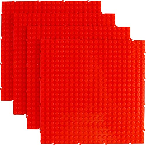 discount Larcele sale 4 Pieces Building Blocks Baseplates, Board Only for 8mm Mini Blocks, Compatible with Most Brand, 5.9 lowest Inches (15cm) JMDB-01 (Red) sale