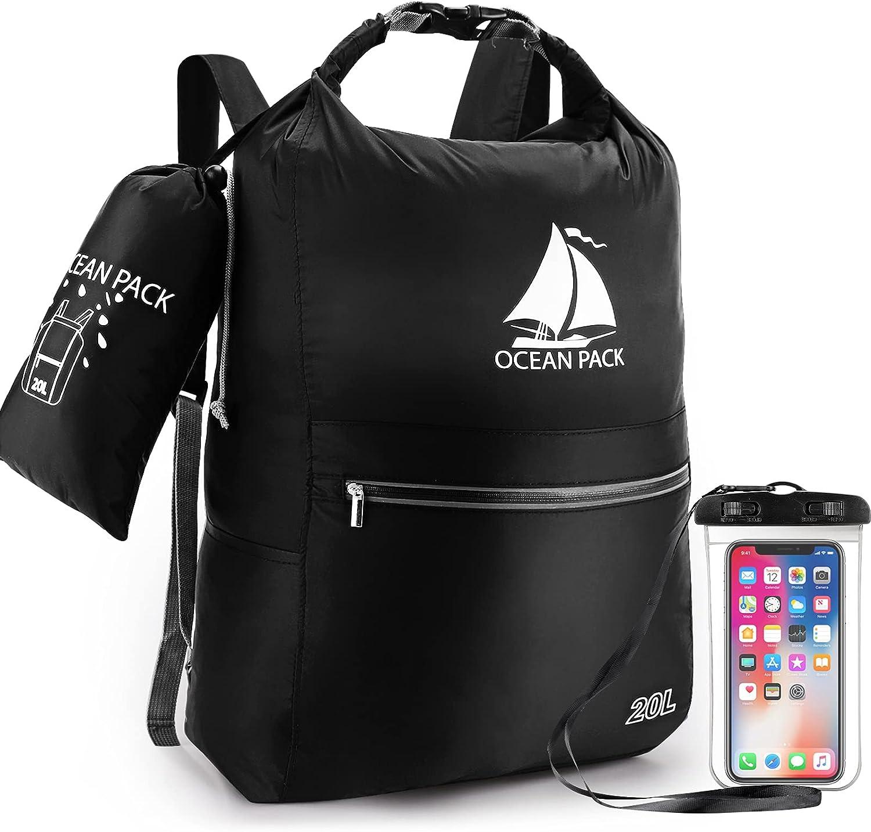 Ranking TOP3 Waterproof Dry Bag 20L Compact Roll Backpack Wholesale Top Floating