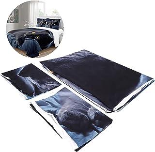 Bed Quilt Cover, Cute Printed Duvet Comforter Cover Pillowcase Quilt Cover Set Quilt Cover Set, for Livingroom Home Textil...