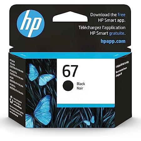 Original HP 67 Black Ink Cartridge | Works with HP DeskJet 1255, 2700, 4100 Series, HP ENVY 6000, 6400 Series | Eligible for Instant Ink | 3YM56AN