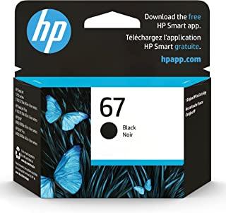 HP 67 | Ink Cartridge | Black | Works with HP ENVY 6000 Series, HP ENVY Pro 6400 Series, HP DeskJet 1255, 2700 Series, Des...