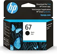 Original HP 67 Black Ink Cartridge | Works with HP DeskJet 1255, 2700, 4100 Series, HP ENVY 6000, 6400 Series | Eligible f...