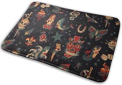 Non-Slip Doormats Animal Entrance Rug Indoor/Outdoor Carpet Absorbs Moisture Washable Dirt Trapper Mats